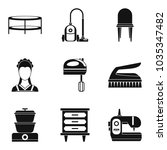lodging place icons set. simple ...   Shutterstock .eps vector #1035347482
