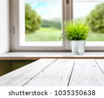 white table background of free... | Shutterstock . vector #1035350638