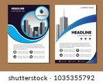 design cover poster a4 catalog... | Shutterstock .eps vector #1035355792