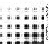 halftone gradient effect... | Shutterstock .eps vector #1035358342