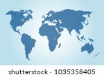 dotted world map. | Shutterstock .eps vector #1035358405
