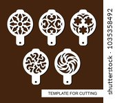 set of coffee stencils. for... | Shutterstock .eps vector #1035358492