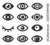 eyes icon set   Shutterstock . vector #1035359458