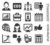 ceo and business management... | Shutterstock . vector #1035359512