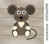 cartoon flat mouse | Shutterstock .eps vector #1035362098