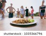 a delicious dish prepared from...   Shutterstock . vector #1035366796