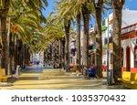 view of pedestrian street paseo ... | Shutterstock . vector #1035370432