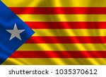 national flag of catalonia... | Shutterstock . vector #1035370612