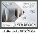 geometric flyer design template.... | Shutterstock .eps vector #1035372586