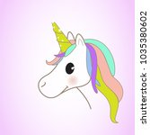 unicorn isolated on background. ... | Shutterstock .eps vector #1035380602