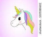 unicorn isolated on background. ... | Shutterstock .eps vector #1035380602
