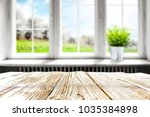 table background in kitchen and ... | Shutterstock . vector #1035384898
