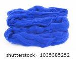natural sheep wool of blue... | Shutterstock . vector #1035385252