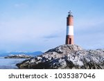 lighthouse in the beagle... | Shutterstock . vector #1035387046