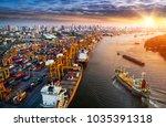 logistics and transportation of ... | Shutterstock . vector #1035391318