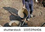 man at work on raw land for...   Shutterstock . vector #1035396406