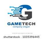letter g logo template design...   Shutterstock .eps vector #1035396445