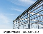 steel structure workshop... | Shutterstock . vector #1035398515