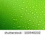 Water Drops Green