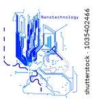 nanotechnology microchip logo   Shutterstock .eps vector #1035402466