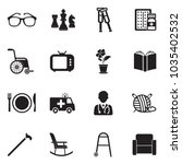 nursing home icons. black flat... | Shutterstock .eps vector #1035402532