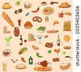 set of food icons. pepper ...   Shutterstock .eps vector #1035403606