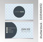 simple light blue business card ... | Shutterstock .eps vector #1035404452