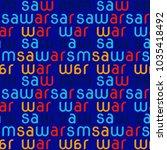 warsaw seamless pattern.... | Shutterstock .eps vector #1035418492