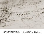 arizona on the map | Shutterstock . vector #1035421618