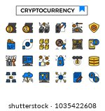 cryptocurrency and bitcoin...   Shutterstock .eps vector #1035422608
