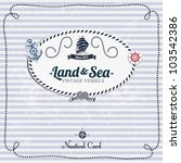 vintage nautical card with... | Shutterstock .eps vector #103542386