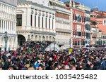 venice  italy   february 11 ... | Shutterstock . vector #1035425482