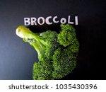 broccoli is rich in essential... | Shutterstock . vector #1035430396
