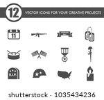 veterans day vector icons for... | Shutterstock .eps vector #1035434236