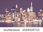 blurred retro toned picture of... | Shutterstock . vector #1035435712