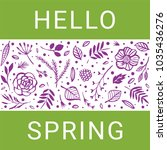 hello spring. green and purple... | Shutterstock .eps vector #1035436276