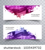 beautiful abstract paint brush... | Shutterstock .eps vector #1035439732