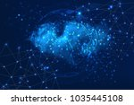 global network. social network... | Shutterstock . vector #1035445108