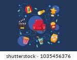 cinema or movie set  scene ...   Shutterstock .eps vector #1035456376