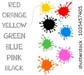 worksheet match similar color... | Shutterstock .eps vector #1035457405