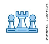 strategy vector icon | Shutterstock .eps vector #1035459196