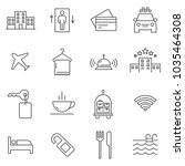 set of hotel line vector icons. ... | Shutterstock .eps vector #1035464308