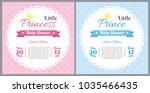 set of baby shower invitation... | Shutterstock .eps vector #1035466435