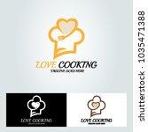 love cooking logo design... | Shutterstock .eps vector #1035471388