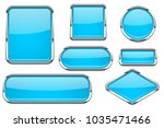 glass buttons with chrome frame.... | Shutterstock .eps vector #1035471466
