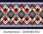 geometric ethnic pattern... | Shutterstock .eps vector #1035481552