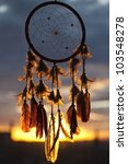 dream catcher with sunset on... | Shutterstock . vector #103548278