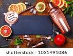 bar accessories  drink tools... | Shutterstock . vector #1035491086