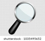 magnifying glass with... | Shutterstock . vector #1035495652