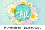big spring sale banner.spring... | Shutterstock .eps vector #1035504292